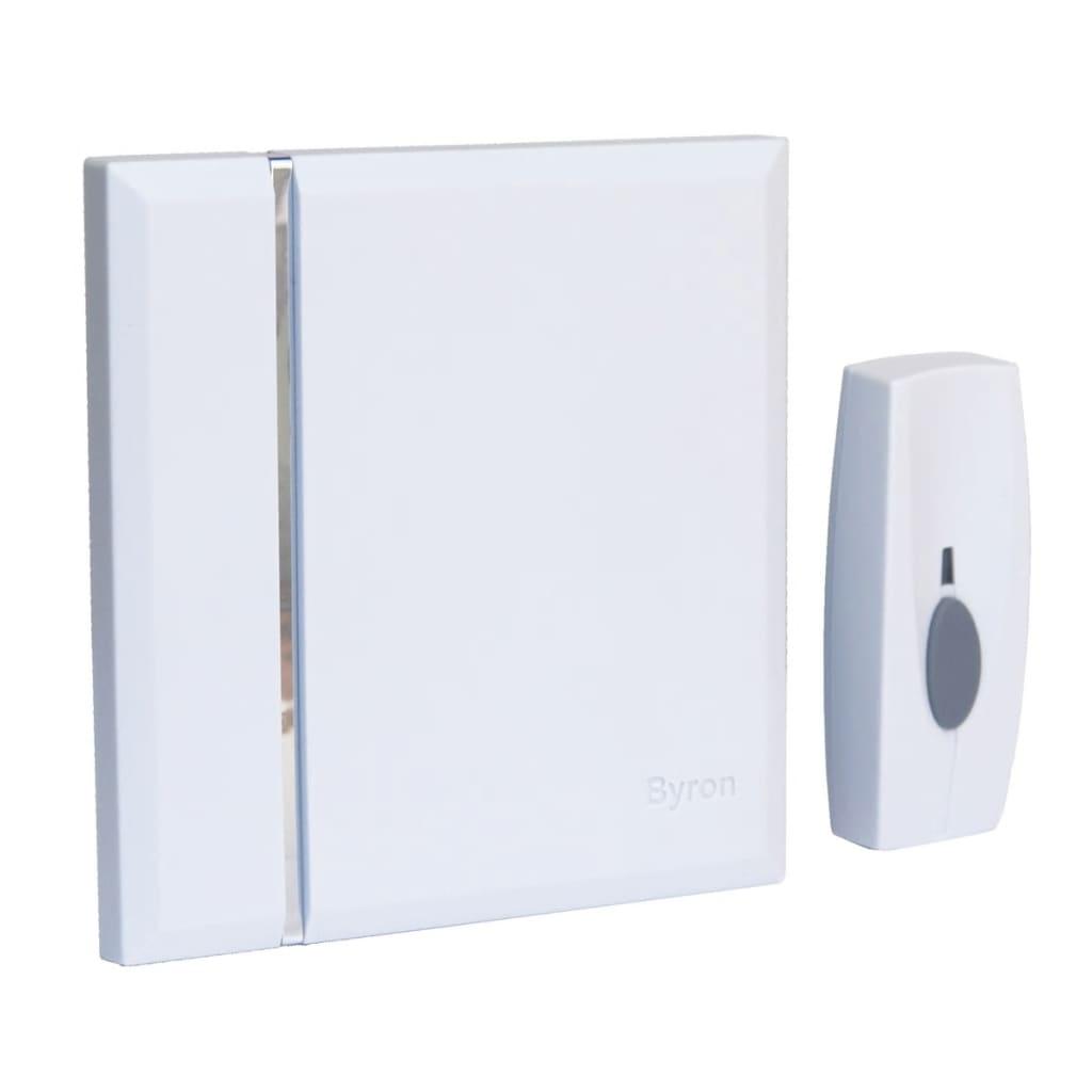 BYRON Byron Csipogó Hordozható Wireless Csengő 4 Csengőhangal Fehér