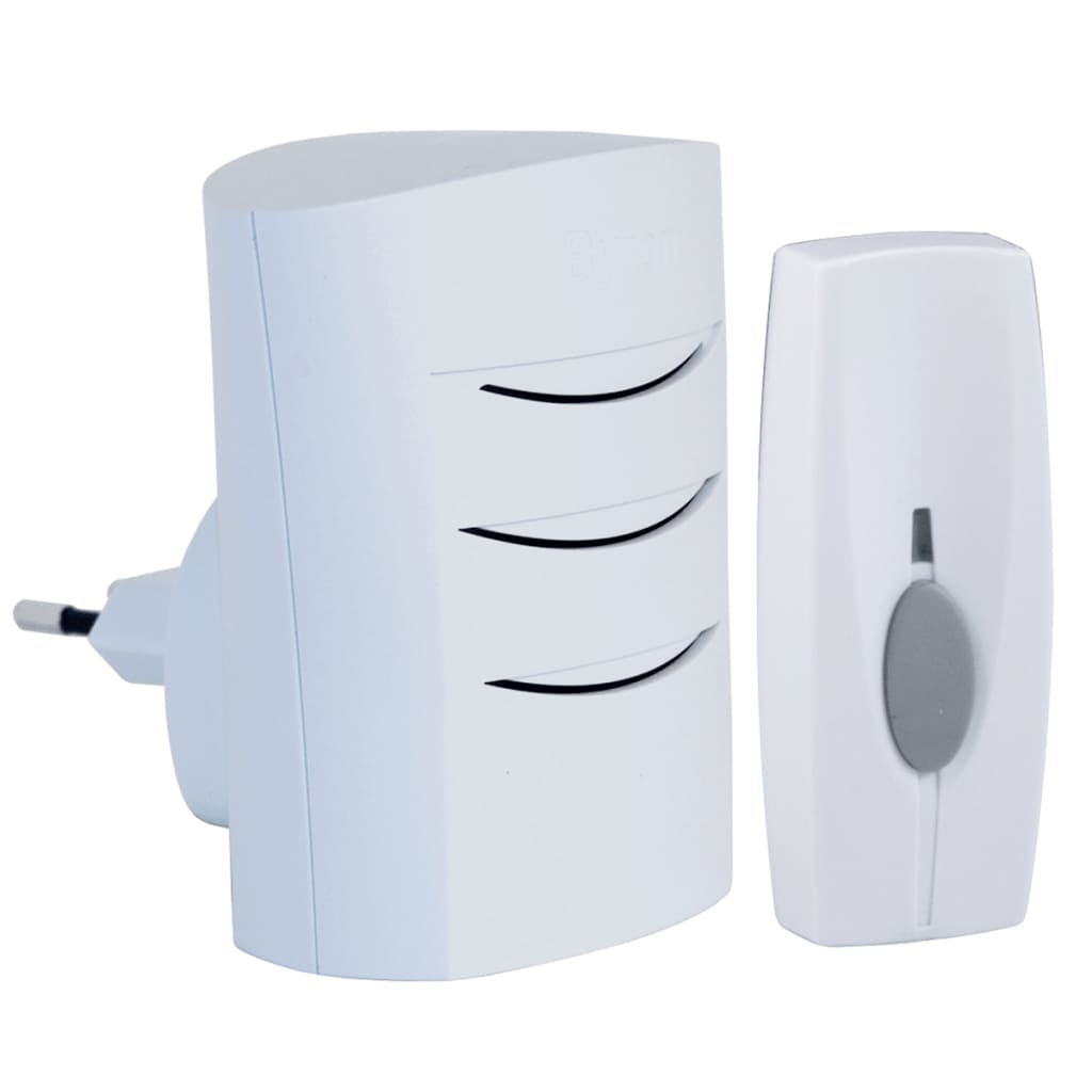 Vidaxl Co Uk Byron Wirefree Plug In Door Chime Kit