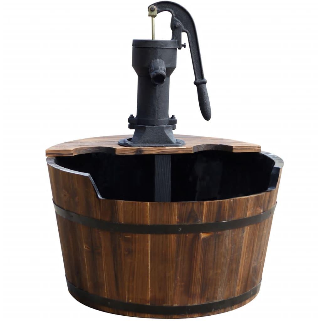 Acheter Ubbink fontaine de jardin Forme de tonneau bois pas cher ...