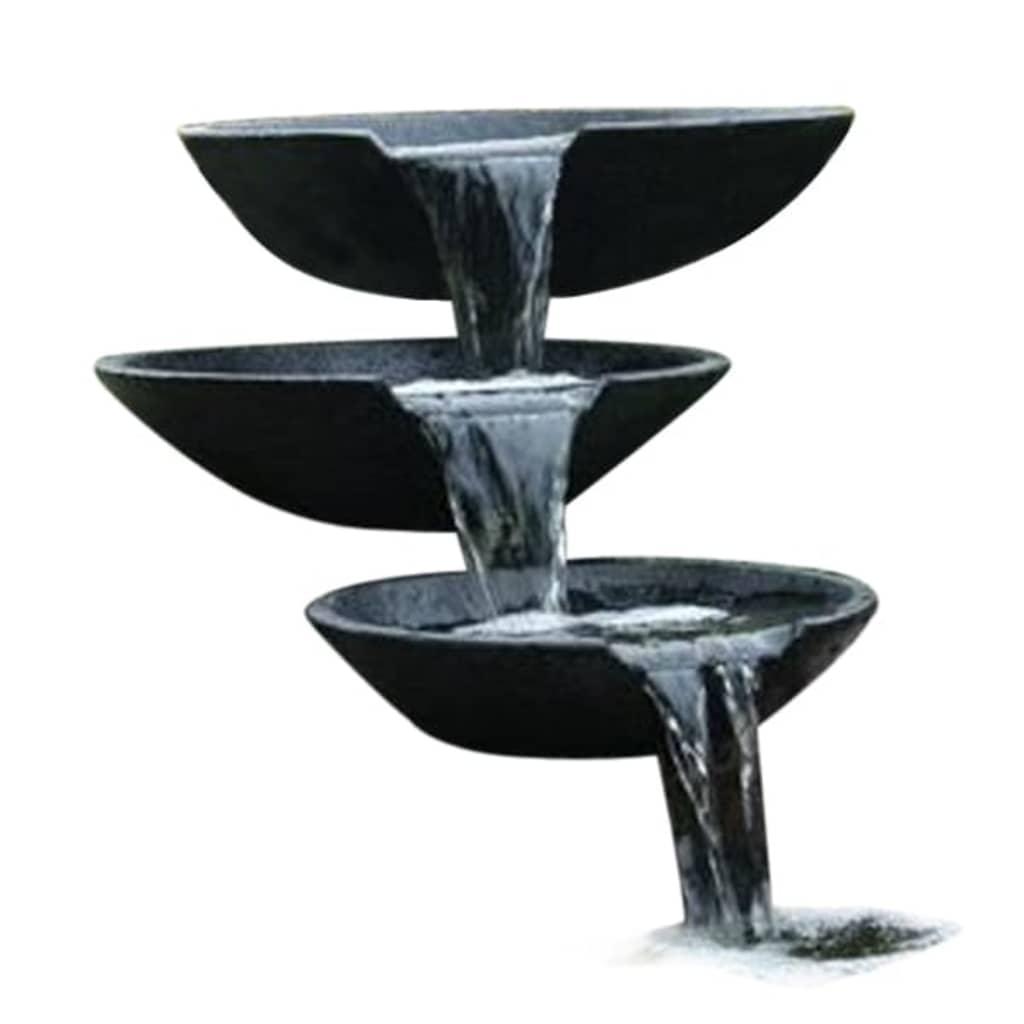 la boutique en ligne ubbink fontaine de jardin cascade 3 vasques avec pompe 35 45 55 cm. Black Bedroom Furniture Sets. Home Design Ideas