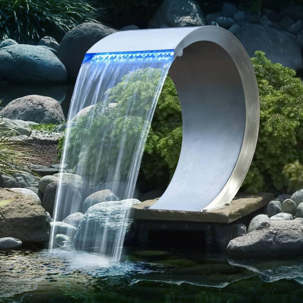 Ubbink Mamba Vízesés Rozsdamentes Acél LED Égővel