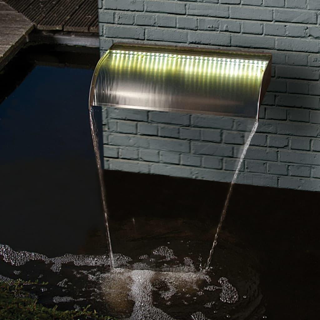 Ubbink Niagara Vízesésfal 90 cm Rozsdamentes Acél LED Égővel
