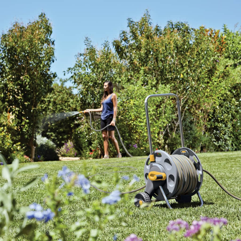 Hozelock-Avvolgitubo-con-20-m-di-tubo-per-l-039-irrigazione-del-giardino