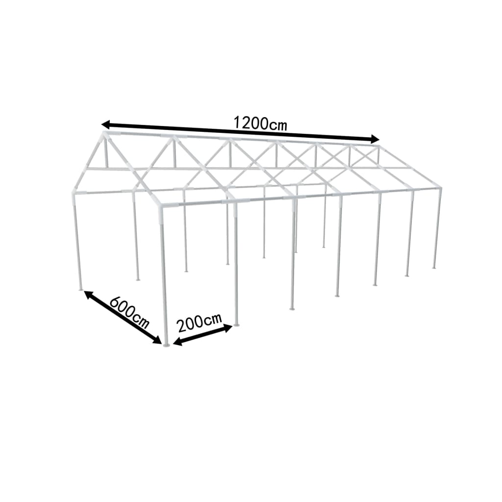 Steel frame for party tent 12 x 6 m for Steel frame tents