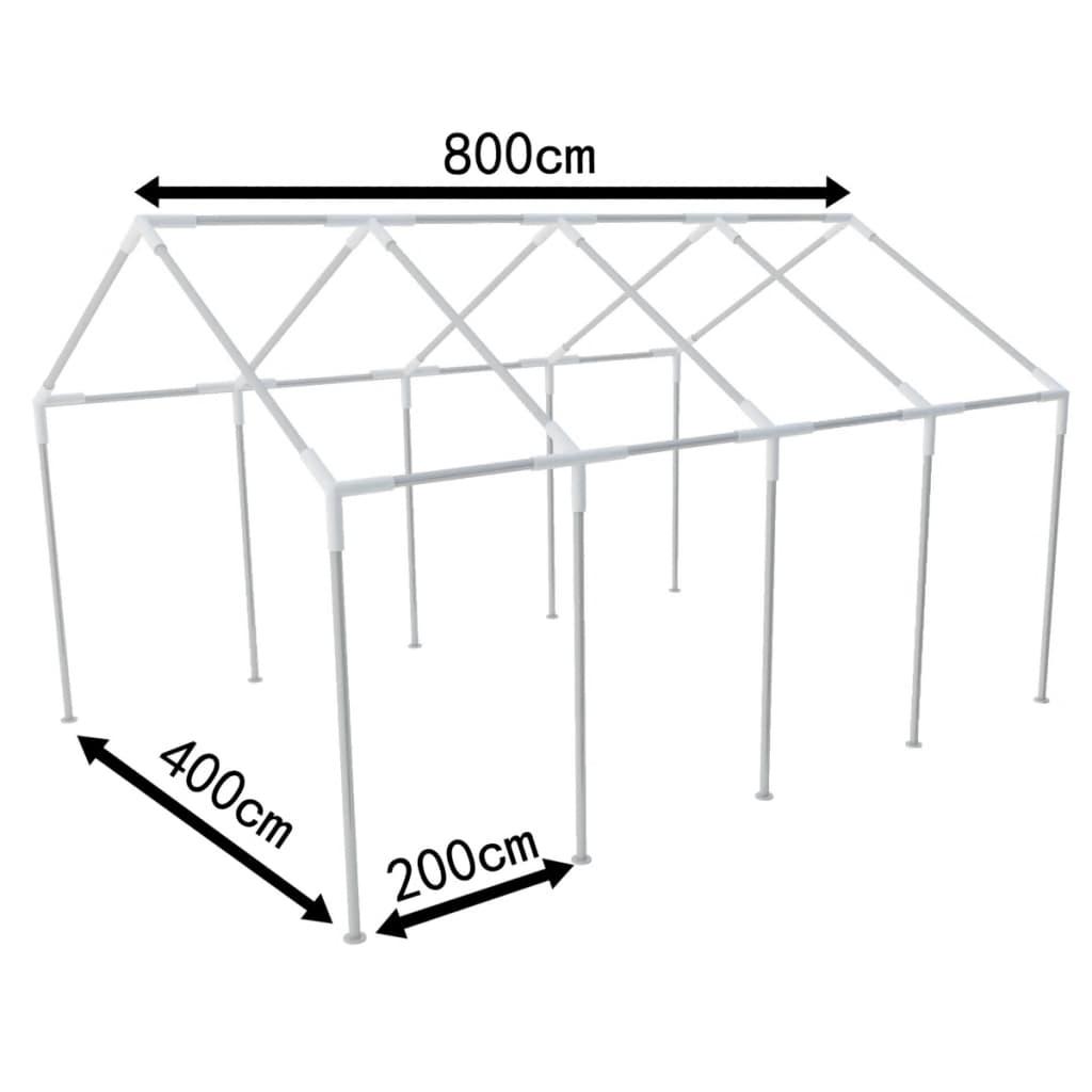 la boutique en ligne structure de tente chapiteau pavillon jardin 8 x 4 m. Black Bedroom Furniture Sets. Home Design Ideas