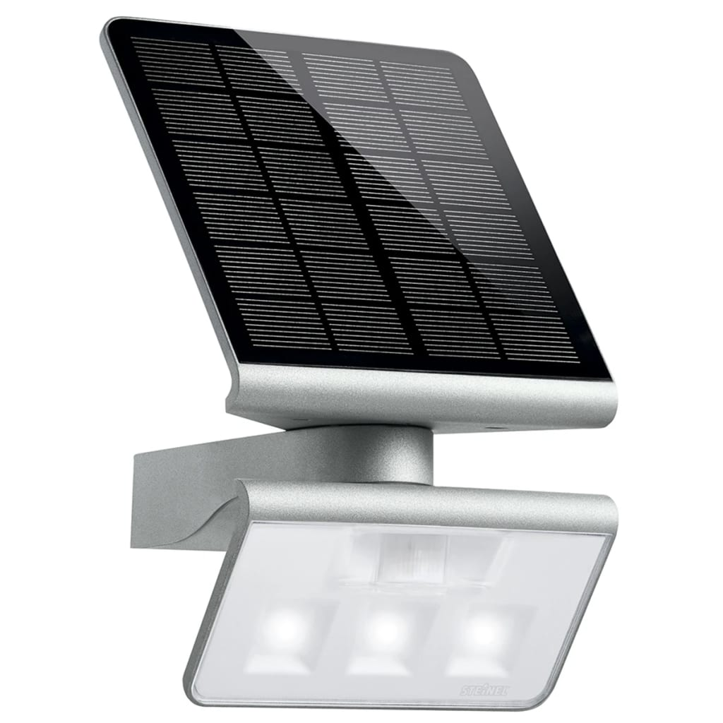 steinel sensor led licht xsolar ls silver. Black Bedroom Furniture Sets. Home Design Ideas