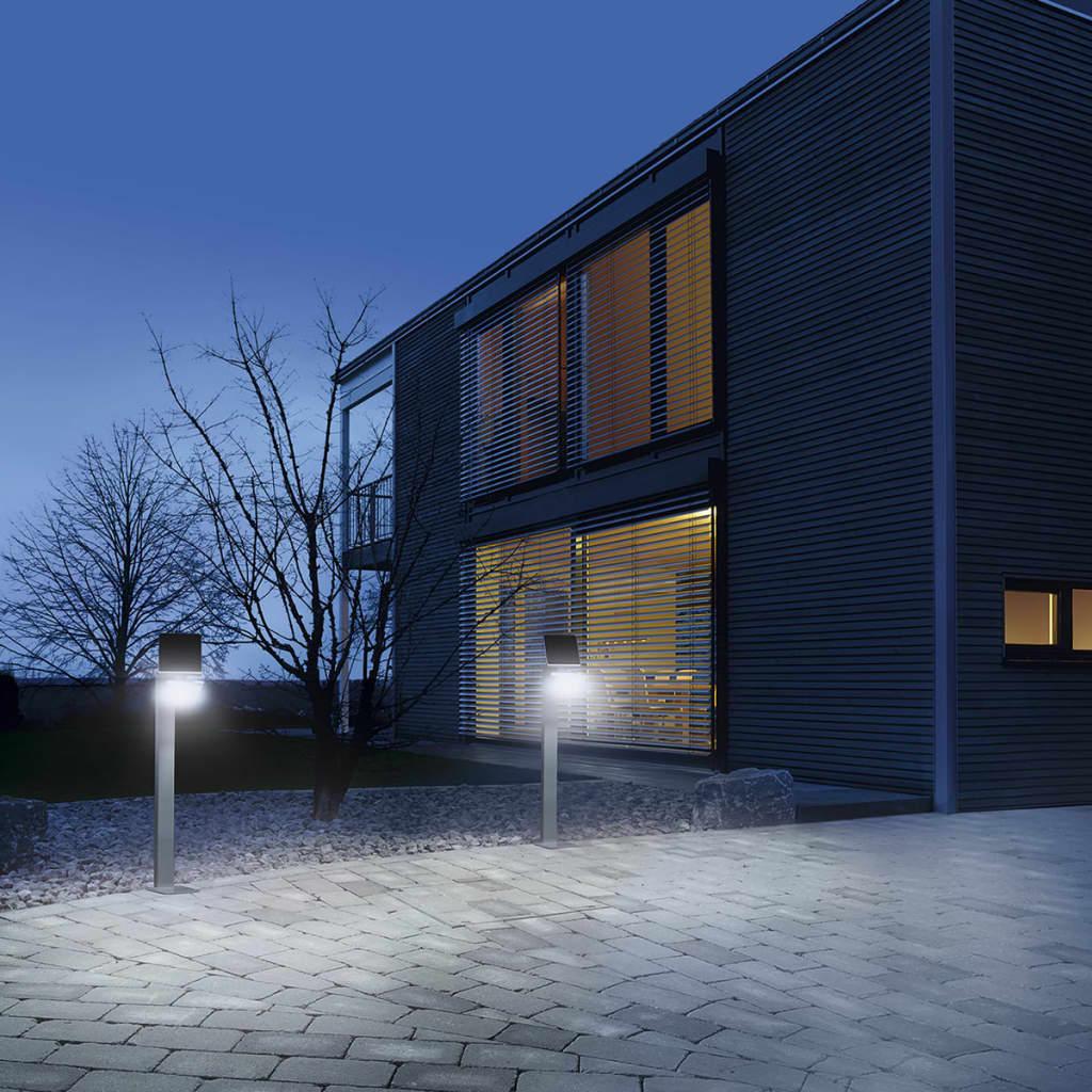 Luz X LED com painel solar e sensor de presença Steinel GLS prateado
