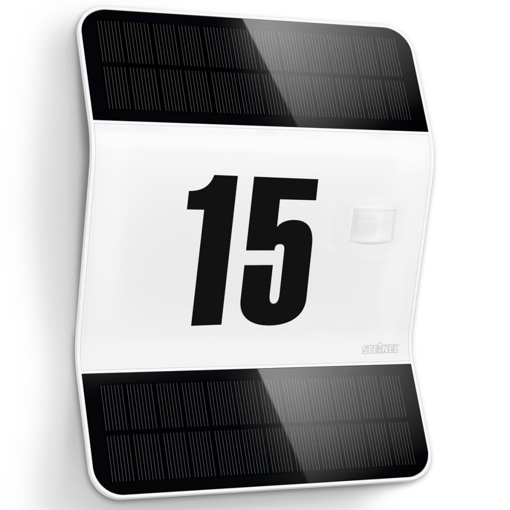 steinel sensor led au enleuchte solarlampe hausnummer xsolar l2 s wei g nstig kaufen. Black Bedroom Furniture Sets. Home Design Ideas