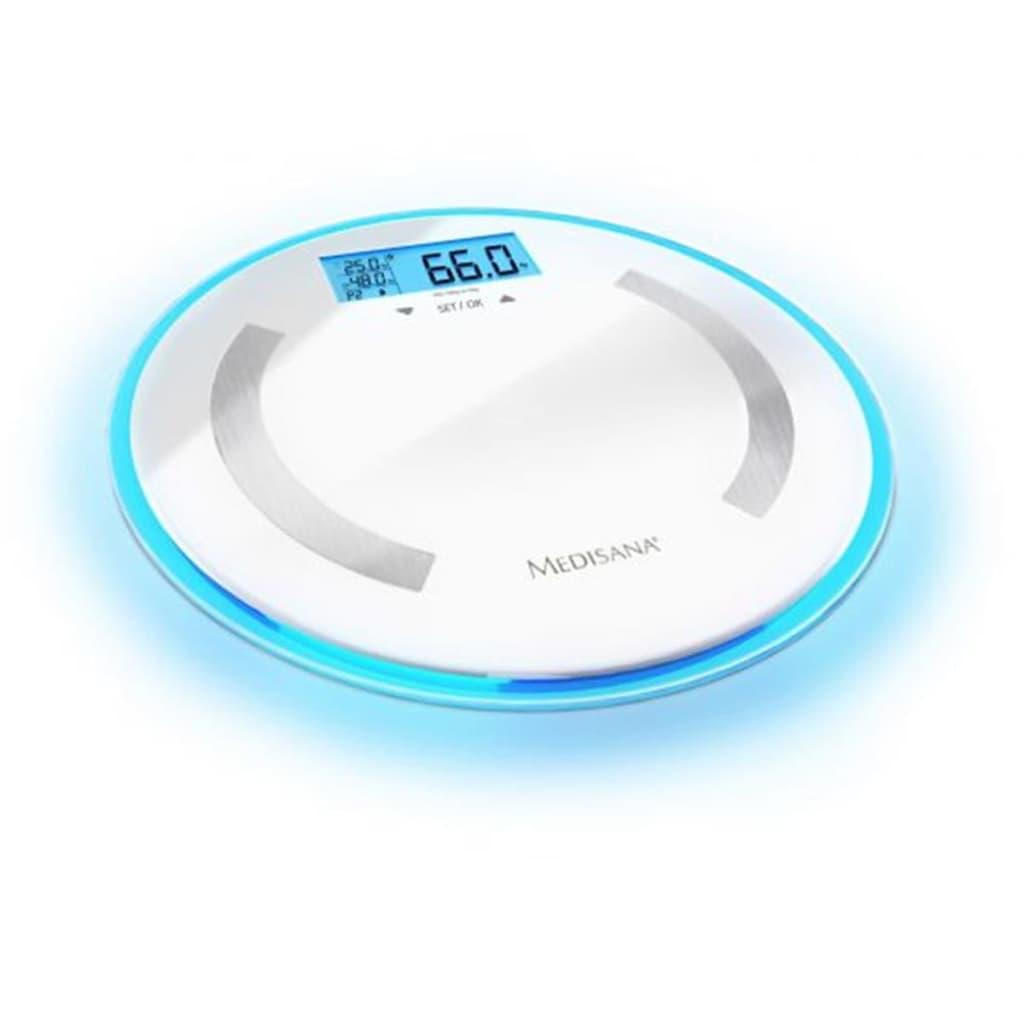 Medisana Test Analízis Mérleg Kerek BS 470 LCD Digitális Üveg