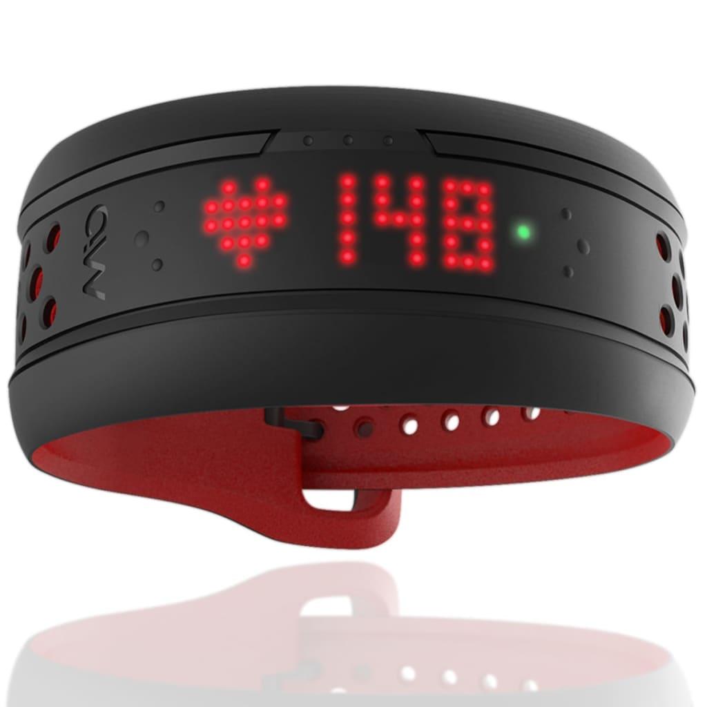 Medisana MIO Fuse Pulsarmband Activity Tracker Schwarz Rot