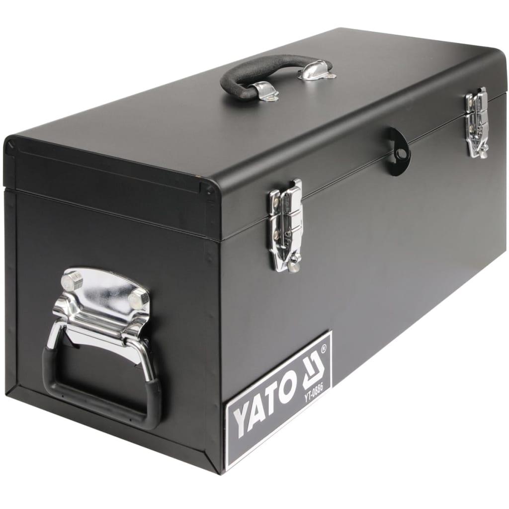 yato werkzeugkoffer werkzeugkasten stahl 510 x 220 x 240 mm g nstig kaufen. Black Bedroom Furniture Sets. Home Design Ideas