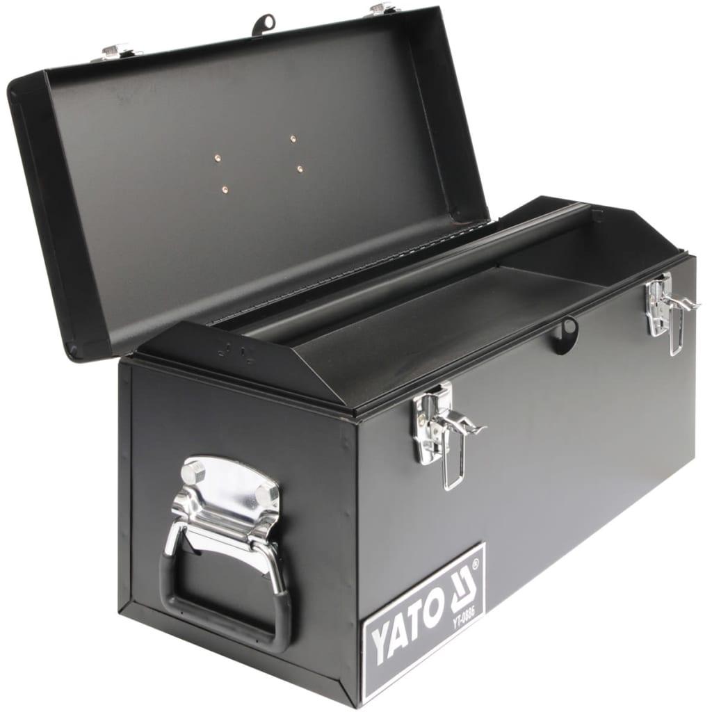 acheter caisse outils en acier yato 510 x 220 x 240 mm pas cher. Black Bedroom Furniture Sets. Home Design Ideas