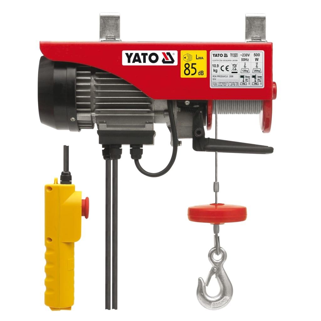 YATO Yato elektrisk telfer 500 W 125/250 kg