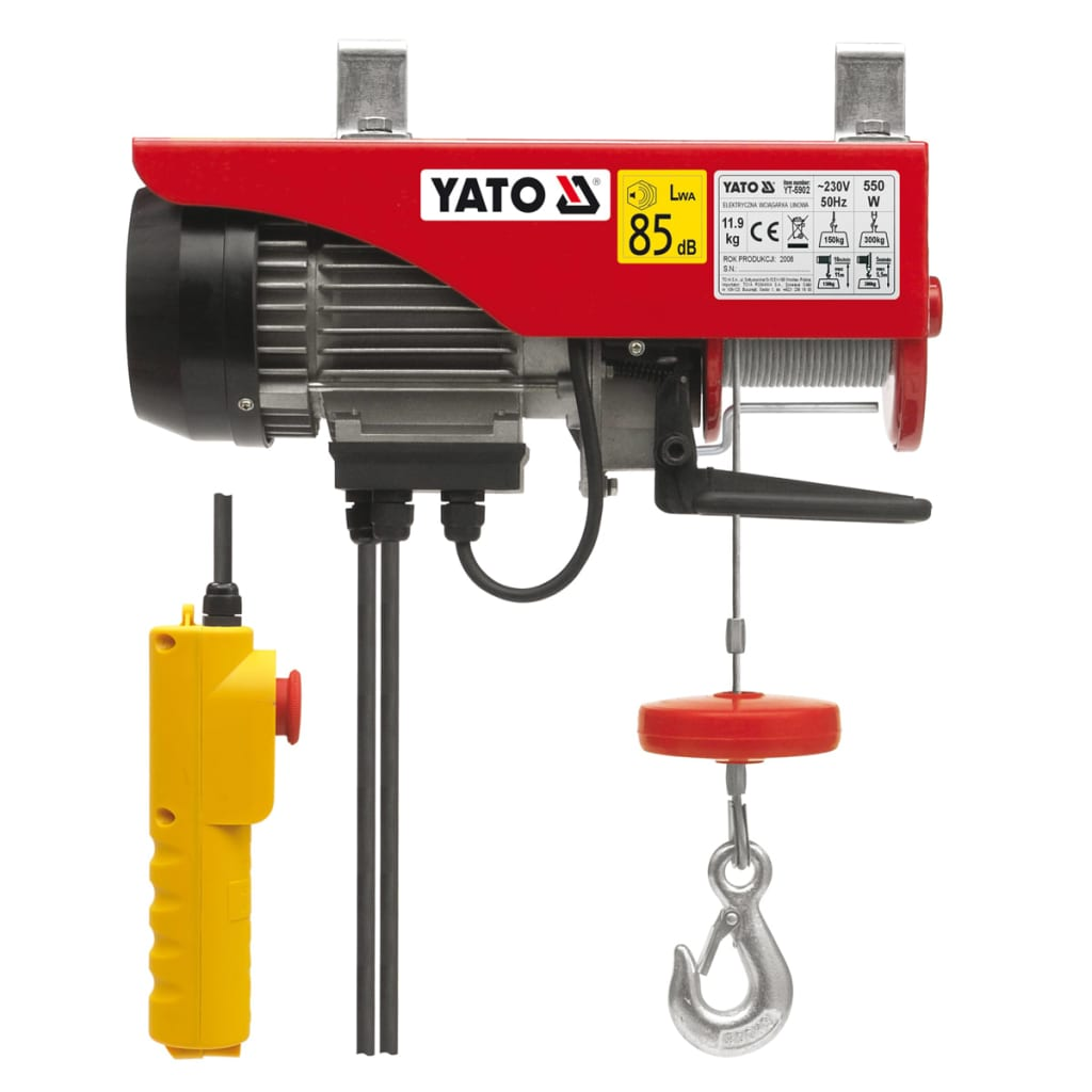 YATO Yato elektrisk telfer 1050 W 300/600 kg