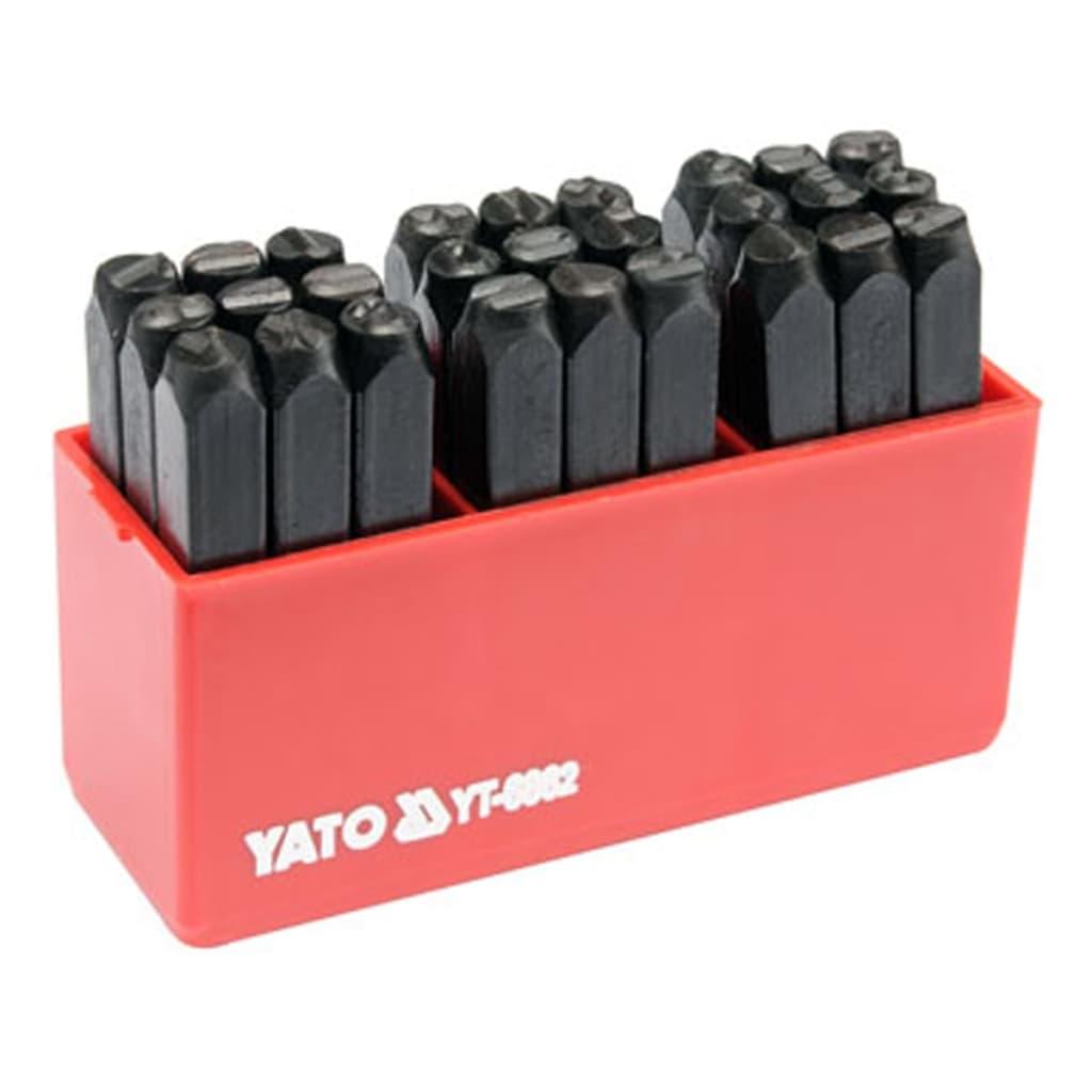 yato letter stamp 27 pcs 6 mm. Black Bedroom Furniture Sets. Home Design Ideas