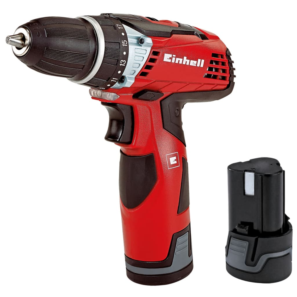 Einhell Cordless Drill TE-CD 12 Li with 2 Batteries
