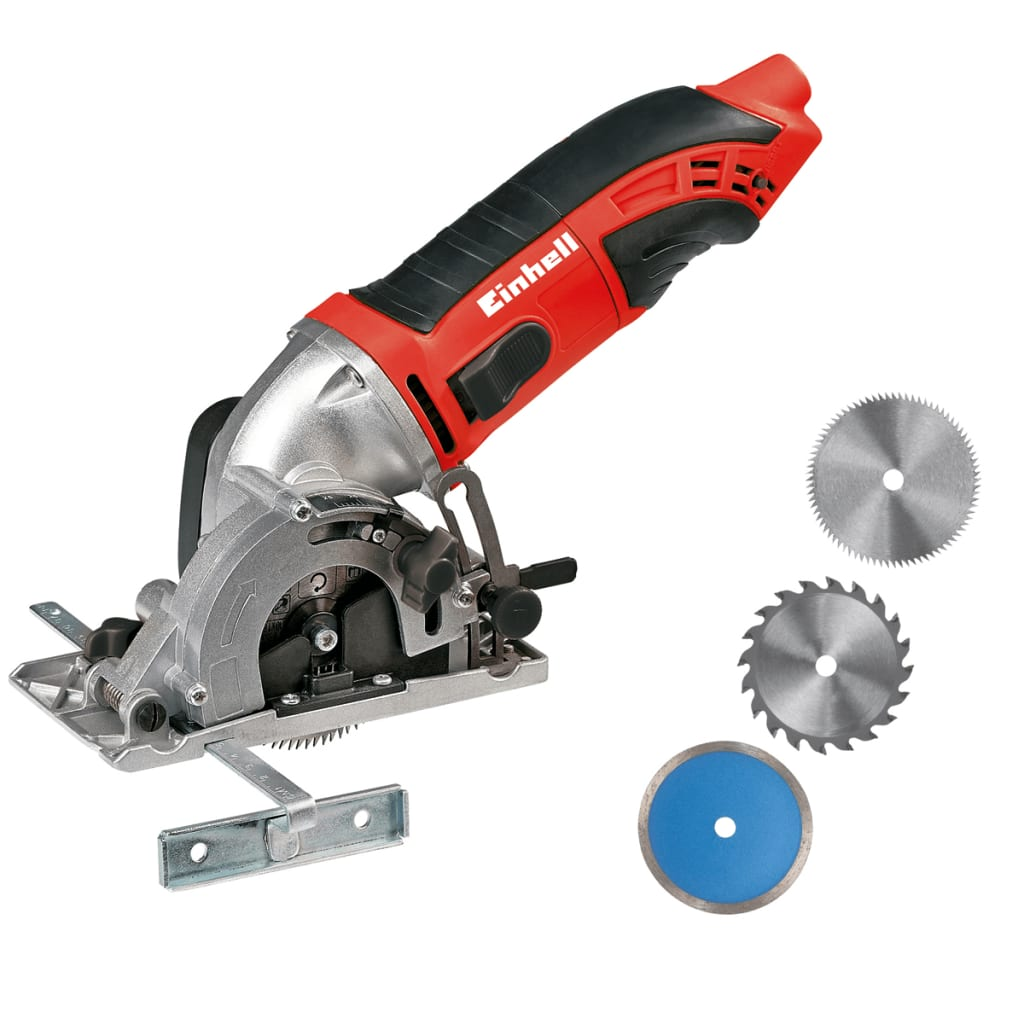 Einhell TC-CS 860 Mini Hand-Held Circular Saw with Accessories