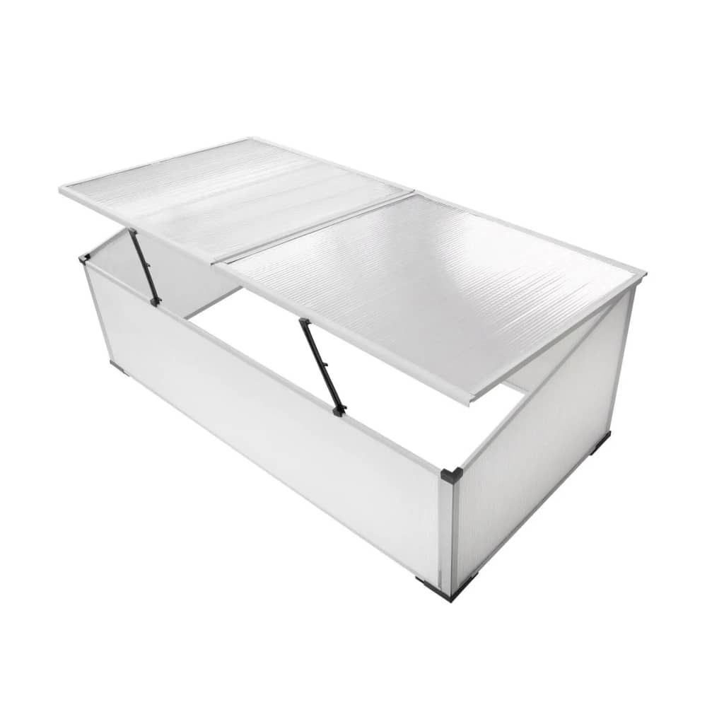 Garden Mini Greenhouse Cold Frame 2 Lid Polycarbonate Cover Grow Hot ...