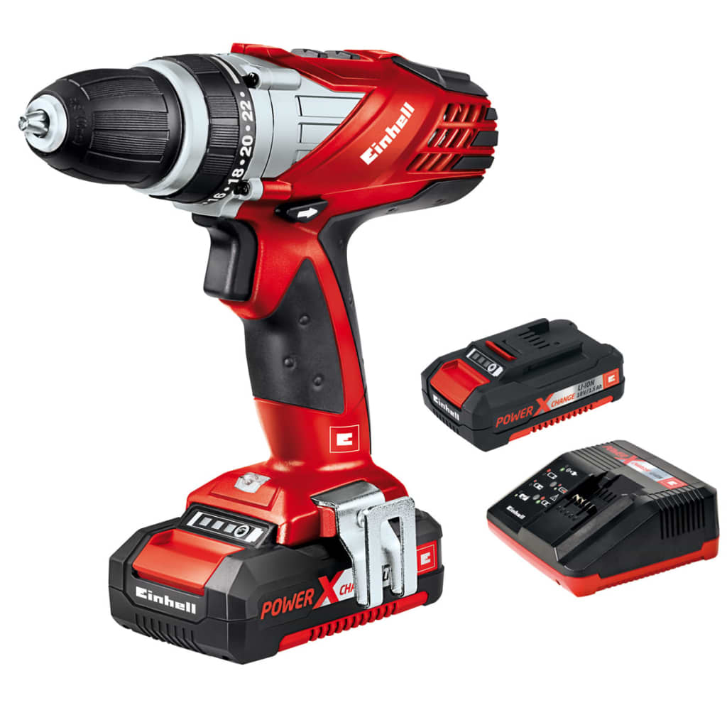 Taladro sin cable einhell te cd 18 li con 2 bater as - Taladro sin cable ...