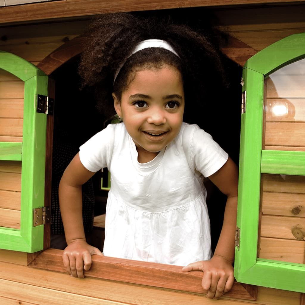 Axi casa casetta in legno playhouse per bambini alex gioco for Cancelletto bambini da esterno
