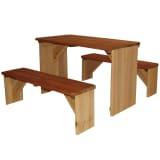 Conjunto mesa + bancos para picnic XL AXI ZidZed