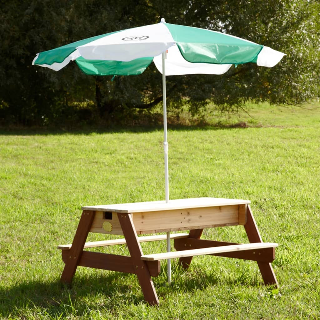 """AXI Sand/Water Picnic Table Nick with Umbrella"""