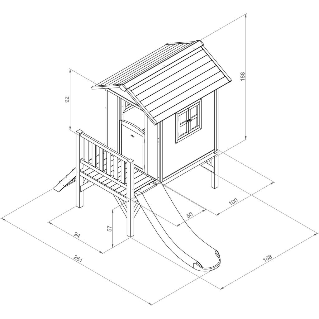 acheter maison de jeu pour enfant lodge xl avec toboggan sunny pas cher. Black Bedroom Furniture Sets. Home Design Ideas