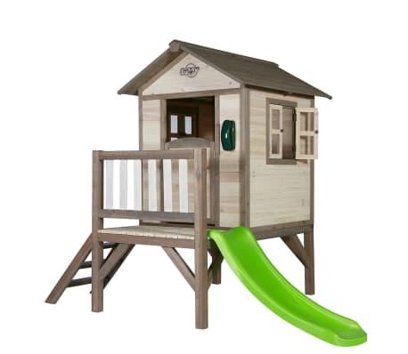 maison de jeu pour enfant lodge xl avec toboggan sunny. Black Bedroom Furniture Sets. Home Design Ideas