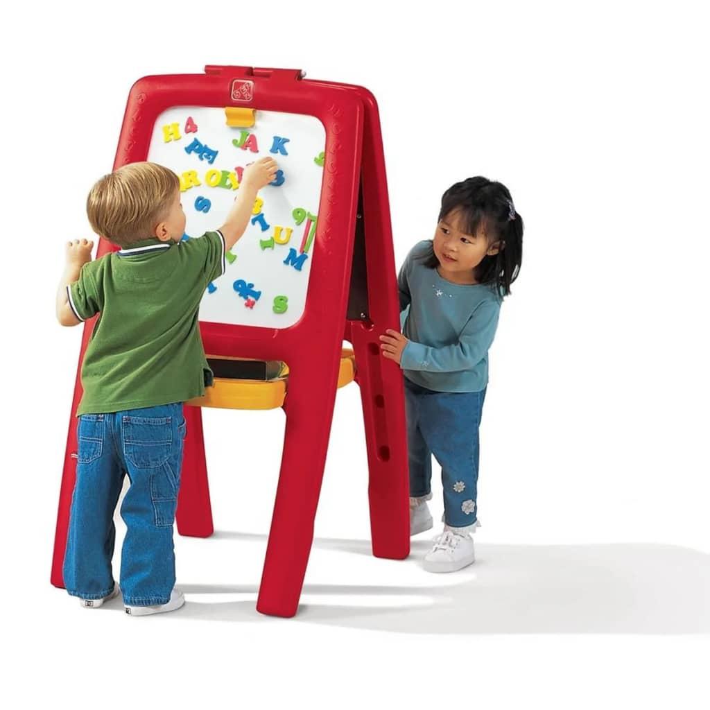 Cavalletto per due Bambini con Magnetici Lettere / Numeri Lavagna per Disegno☺