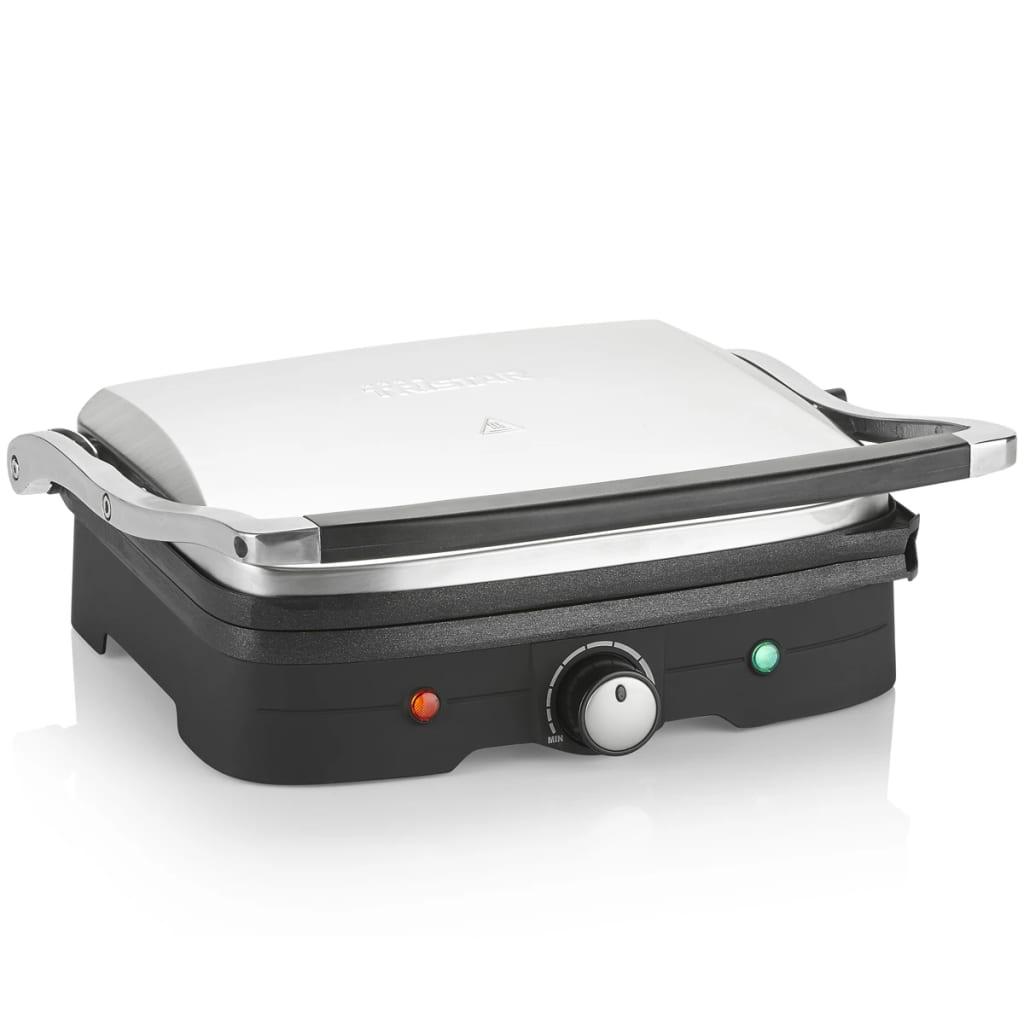 Image of TriStar GR-2840 Grille double-contact Dessus de table Electrique 1500W Noir - Argent barbecue et grill