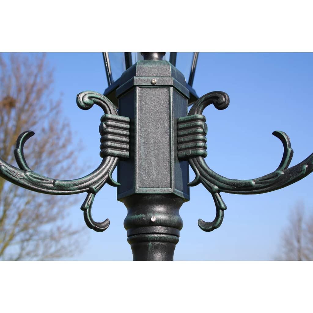 Acheter lampadaire ext rieur triple 230 cm vert fonc noir for Lampadaire exterieur moderne pas cher