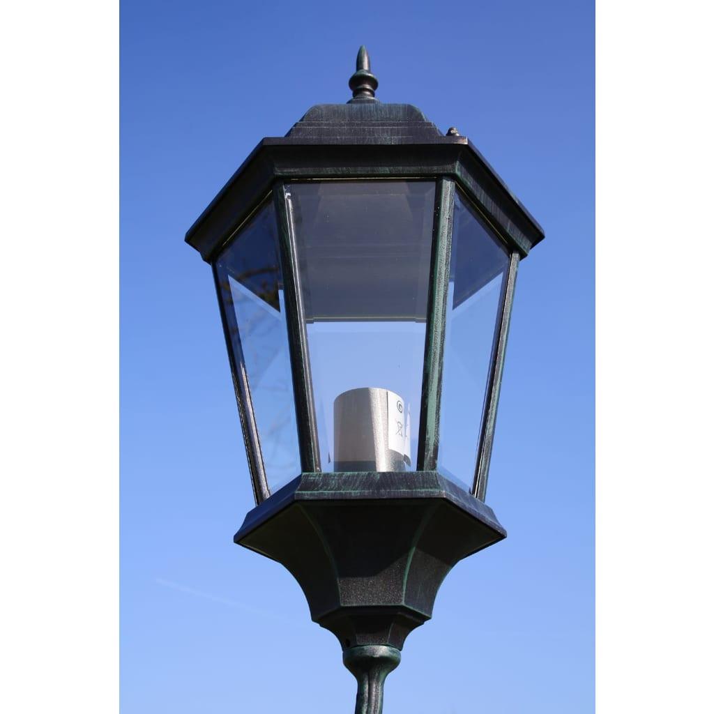 Farola de jard n verde oscura negra de 230 cm 3 luces for Luces verdes para jardin
