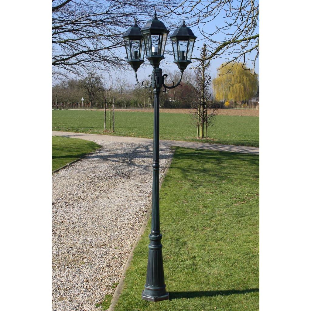 Acheter lampadaire ext rieur triple 230 cm vert fonc noir pas cher - Lampadaire exterieur pas cher ...