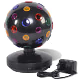 Party Fun Lights Disco Lampe rotierend schwarz 20 cm