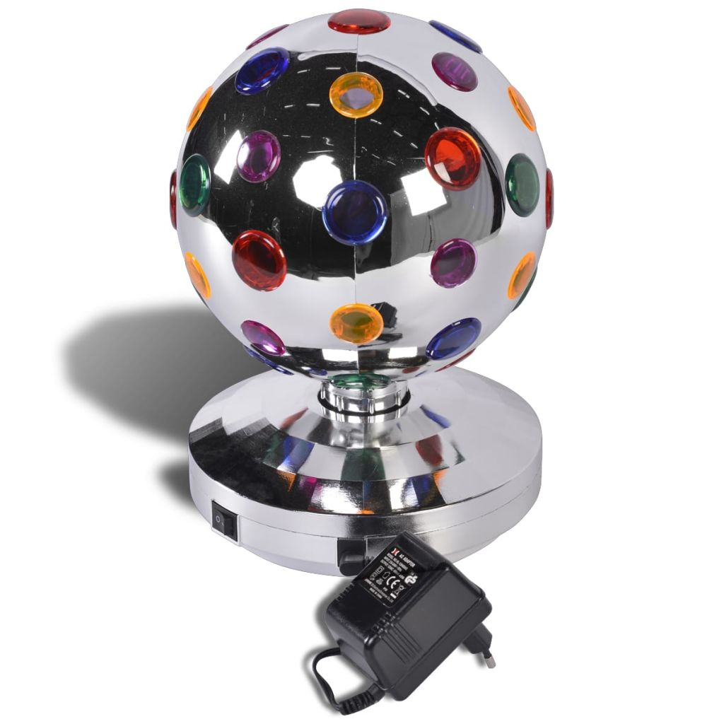 Party Fun Lights Disco Lampe rotierend silber 20 cm