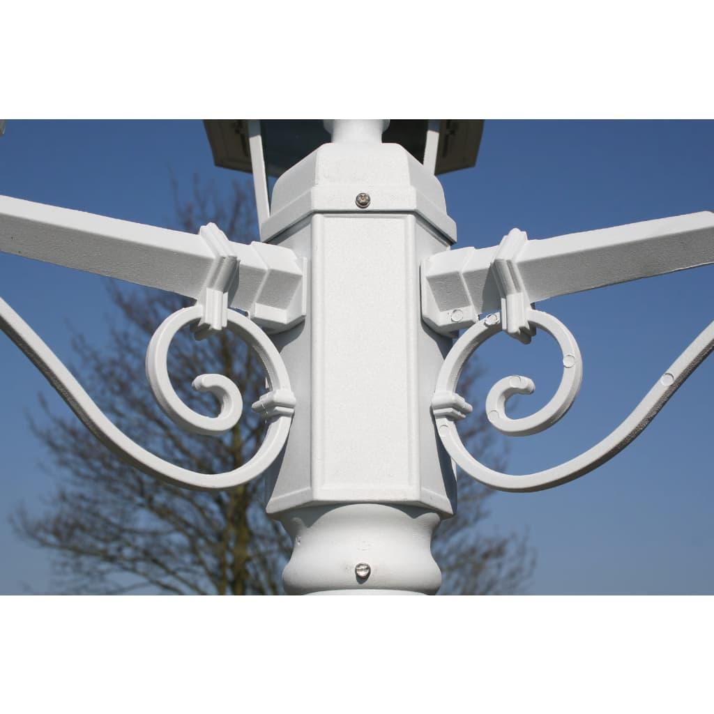 La boutique en ligne lampadaire ext rieur triple blanc for Solde luminaire exterieur