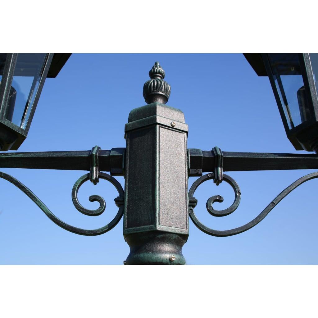 Acheter lampadaire ext rieur double hauteur 215 cm vert fonc pas cher - Lampadaire exterieur pas cher ...
