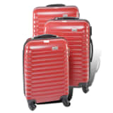 "Set de valises rigides à roulettes 18""/22""/26"" Penn coloris rouge"