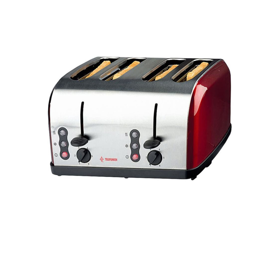 der telefunken toaster 4 schlitze edelstahl 1500 w 99850 online shop. Black Bedroom Furniture Sets. Home Design Ideas