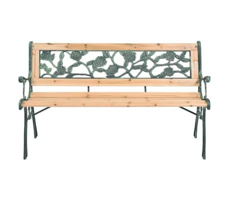 vidaxl gartenbank mit rosenmuster lehne im vidaxl trendshop. Black Bedroom Furniture Sets. Home Design Ideas