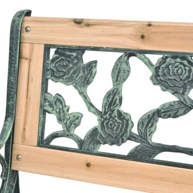 Tuinbank hout met rozenmotief[6/8]