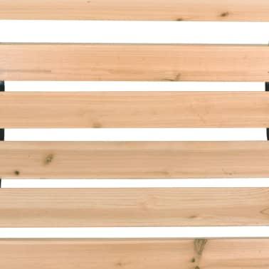 Tuinbank hout met rozenmotief[7/8]