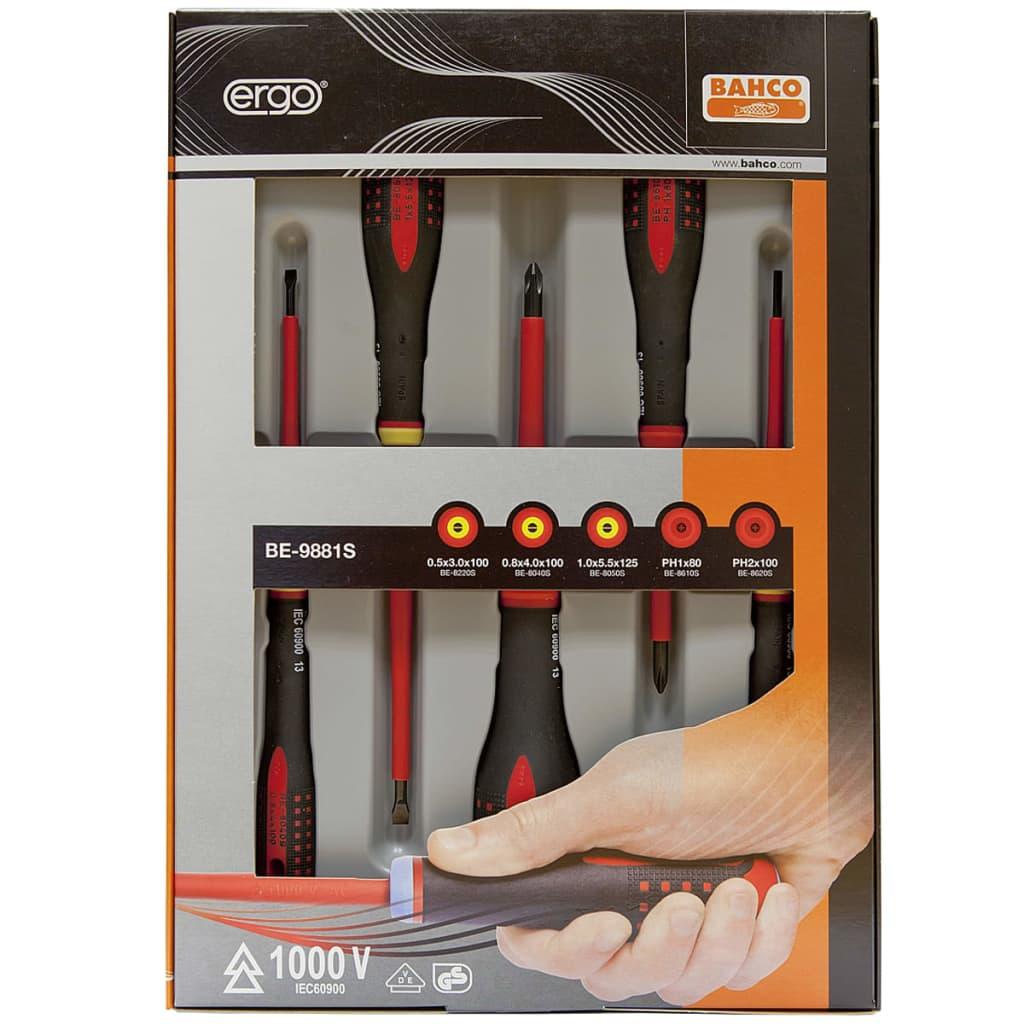 BAHCO Bahco ergonomiskt designat set med 5 stycken skruvmejslar