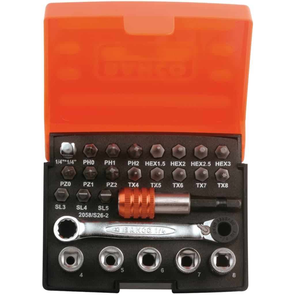 BAHCO 2058/S26-2 26 részes dugókulcs készlet különféle csavarokhoz