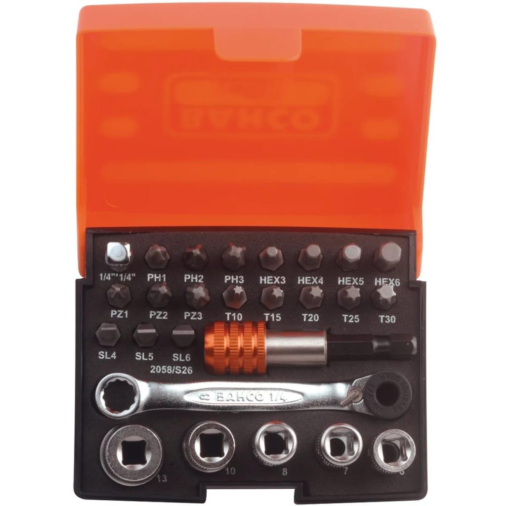 BAHCO 2058/S26 26 részes dugókulcs készlet különféle csavarokhoz