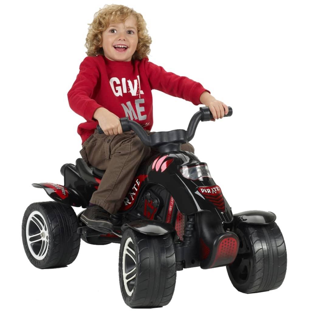 FALK Moto quad pirate en noir pour enfants filles garçons de 3 à 7 ans 30 kg