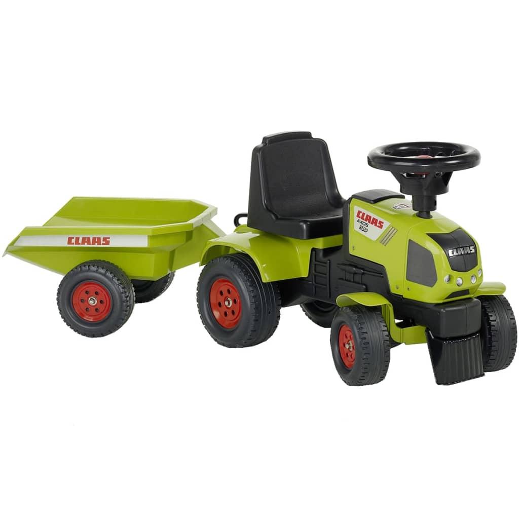 FALK Falk Claas Axos 310 traktor utánfutóval zöld 1/3