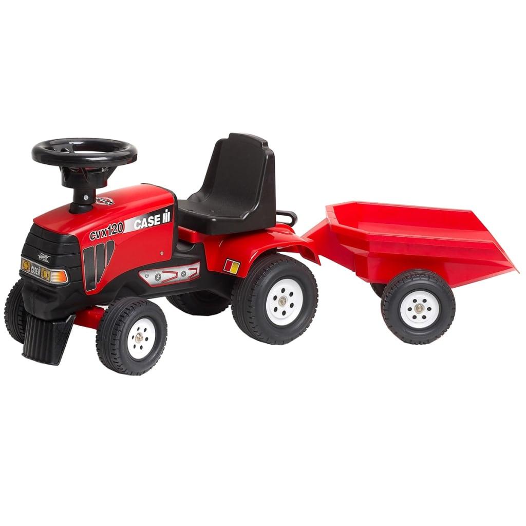 FALK Falk Claas CVX 120 Traktor Utánfutóval Vörös 1/3