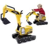 FALK Sandbagger Power Shift Sitzbagger mit Rädern Gelb 2/5