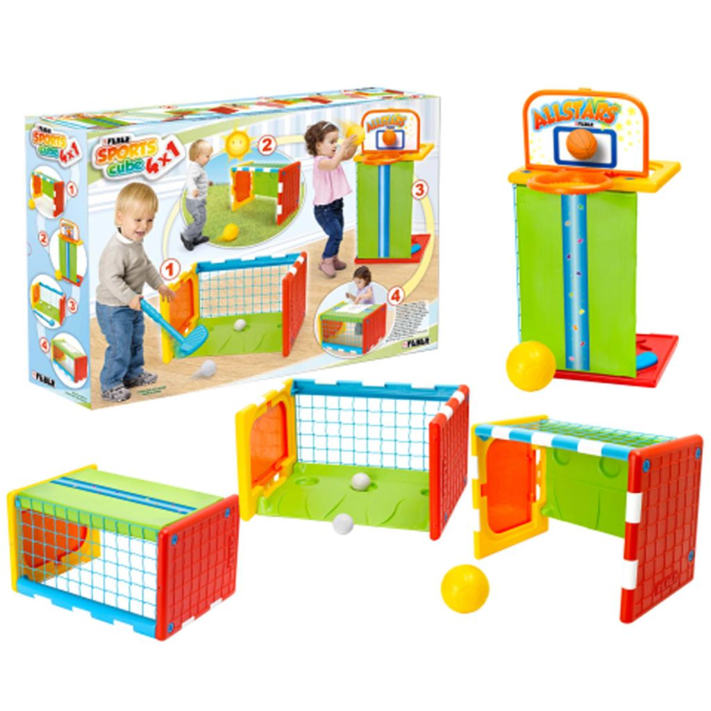 acheter cube d 39 activit et sports pour enfants 4 en 1 feber pas cher. Black Bedroom Furniture Sets. Home Design Ideas